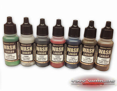 Vallejo Washes 17ml - Choose Any Colour - Wargames Model Game Color Wash Paint • 3.19£