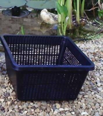 4 Large 19cm New Square Plastic Aquatic Pots Baskets For Water Plants And Pond  • 7.95£
