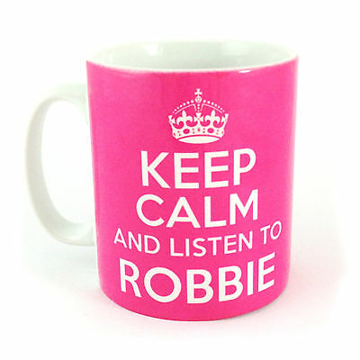 £8.99 • Buy Keep Calm And Listen To Robbie Williams Gift Mug Cup Carry On Take That Retro