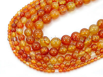 $ CDN2.54 • Buy Red Carnelian Natural Agate Gemstone Round Beads 15.5'' 4mm 6mm 8mm 10mm 12mm