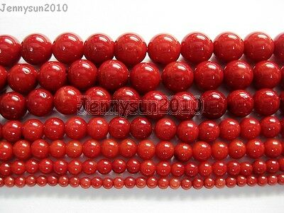 $ CDN4.32 • Buy Red Natural Coral Gemstone Round Spacer Beads 16'' 2mm 3mm 4mm 5mm 6mm 7mm 8mm