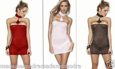 £12.50 • Buy SEE THROUGH Red CHEMISE Black BABYDOLL White TEDDY Sheer NEGLIGEE LINGERIE