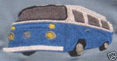 VW Bay Window Camper Embroidered On Polo Shirt • 16.50£