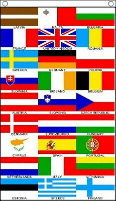 £5.50 • Buy 5' X 3' Euro 27 Banner European Union Eurovision Song Contest Party Hanging Flag