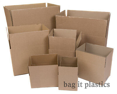 Cardboard Boxes - Single Wall Packing Cartons Storage Removals Mailing Post Box • 14.16£
