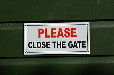 £2.59 • Buy PLEASE CLOSE THE GATE Sign Or Sticker 210x100mm Security Garden Safety Shut Dog