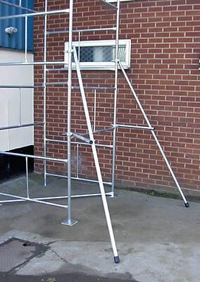 Scaffold Tower Outriggers Stabilisers Pair - Classic Galvanised Steel Towers  • 74.95£