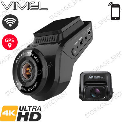 AU199 • Buy Vimel Dual Dash Camera 4K GPS WIFI Wireless Car Taxi Security Cam Truck Uber