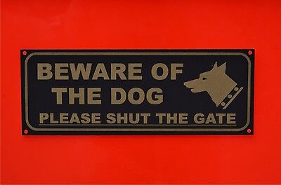 £1.99 • Buy BEWARE OF THE DOG PLEASE SHUT THE GATE Sign Or Sticker 205mmx75mm Warning