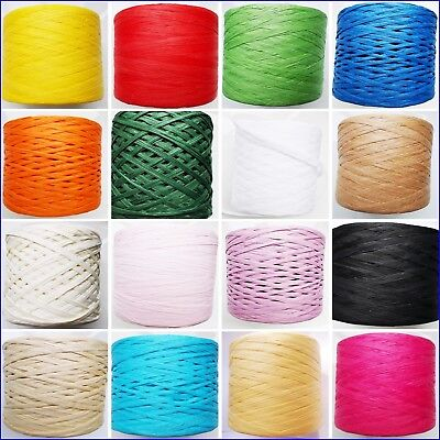 £7.80 • Buy Paper Raffia Ribbon 28 Colours Decorating Flowers Gifts Crafts Scrapbook Natural