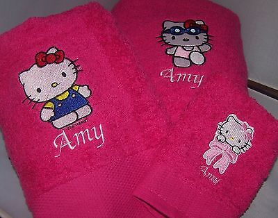 Personalized Embroidered Hello Kitty 3 Towel Set  • 24.99£