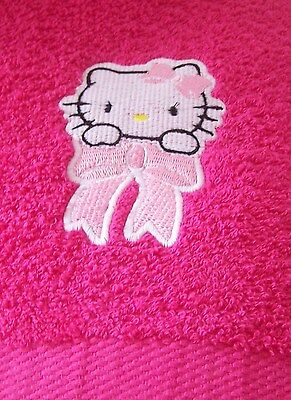 Personalized Embroidered Hello Kitty Swimming/bath Towel  100% Cotton • 14.99£
