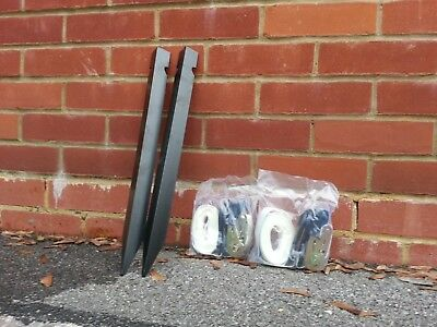 £10 • Buy Budget Marquee Tie Down Kit: 2 Stakes, 2 Orange/White Ratchets