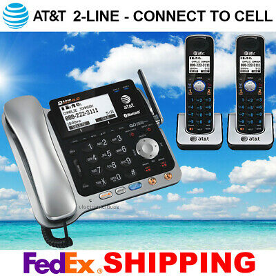 $ CDN263.57 • Buy At&t Tl86109 2-line Dect 6.0 Phone System - Bluetooth - 2 Cordless - Brand New