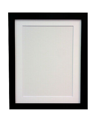 White & Black Large Photo Picture Frames With White Ivory Or Black Mounts H7 MDF • 5.31£