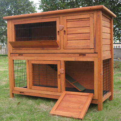 £699.99 • Buy 4ft Large Double Rabbit Hutch / Guinea Pig Run / Deluxe Pet Hutches / Cage Pets