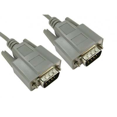 £3.29 • Buy RS232 Serial 9 Pin Male To RS232 Serial 9 Pin Male Cable Lead 2 Metre 2m Moulded
