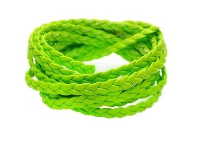 £0.99 • Buy Braided Leather Cord Different Color Available For Making Leather Bracelets - 1m