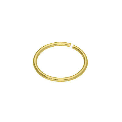 AU17.16 • Buy 9ct Yellow Gold 7mm Plain Nose Conch Hoop Ring Piercing Body Jewellery 22 Gauge
