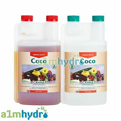 £16.95 • Buy Canna Coco A+B 1 Litre Veg And Flower Plant Food Base Nutrients Hydroponics