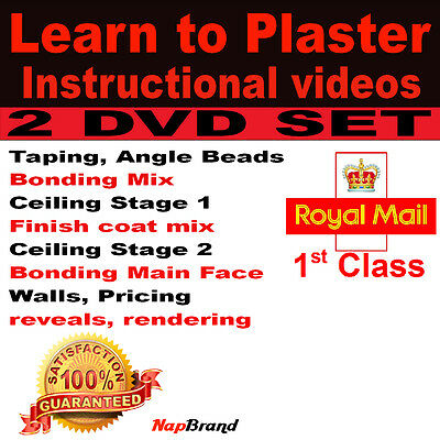 £1.69 • Buy Learn To Plaster STEP BY STEP GUIDE 2 DVD Set