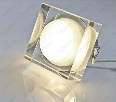 AU13.03 • Buy Shockproof Crystal Acrylic LED Ceiling Recessed Solid State Dimmable/N Canteen