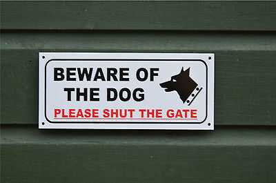 £2.20 • Buy BEWARE OF THE DOG PLEASE SHUT THE GATE Sign Or Sticker Choice Of Size Warning