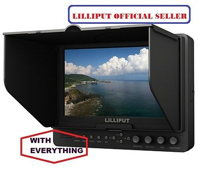 £226.44 • Buy Professional Lilliput 665/S/P HD-SDI Peaking Focus HDMI In&Out Monitor+BATTERY