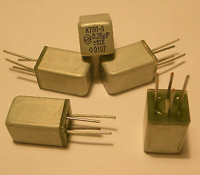 $20 • Buy Russian PETP Capacitor K73P-3 0.25uF 160V A Lot Of 200 Low Price