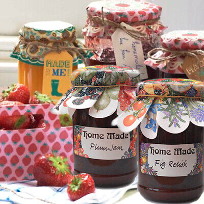 JAM JAR LABEL Chutney Fruit Herb Preserve Marmalade Floral Sticker Homemade Gift • 2.90£