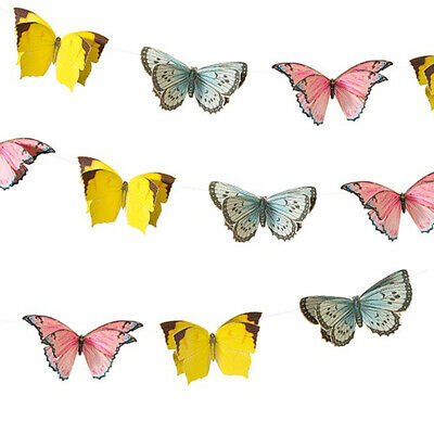 £8.50 • Buy LARGE BUTTERFLY BUNTING Garland Home Garden Birthday Wedding Party Decoration