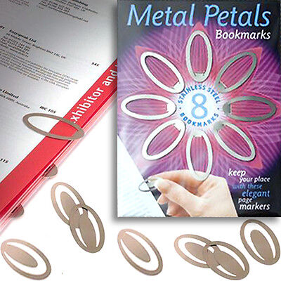 £3.50 • Buy 8 METAL CLIP ON BOOKMARK Reference Book Page Marker Office School Kid Stationery