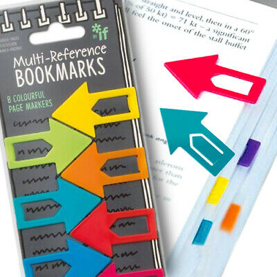 £3.90 • Buy 8 RAINBOW ARROW BOOKMARK Office Kid School Stationery Clip Reference Page Marker