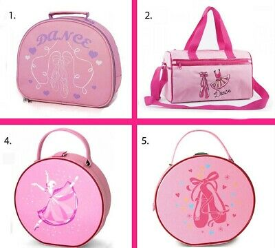 4 Styles Of Dance Bags Balley, Pink Satin Ballet Shoes, Vanity Case & Holdall • 14.99£