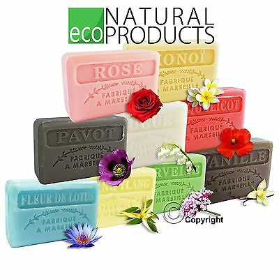Savon De Marseille Natural French Soap With Organic Shea Butter *Genuine* FLORAL • 2.50£