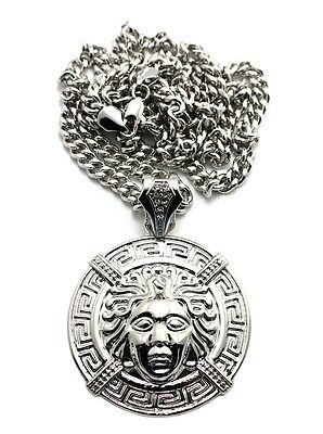 £18.02 • Buy New Medusa Pendant With 36  Cuban Link Chain