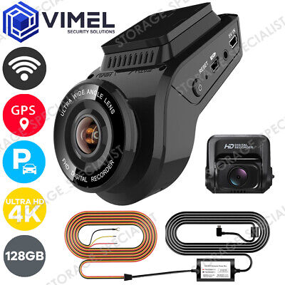 AU259 • Buy Deluxe 128GB 24/7 Dual Dash Camera WIFI GPS UHD 4K Security Parking Guard