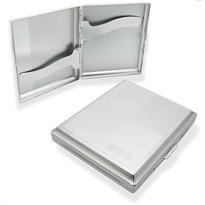 Chrome Designed Cigarette Case Holds 20 Cigarettes • 4.99£
