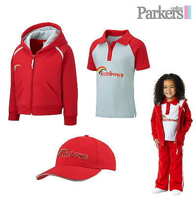 New Girls Official Rainbows Set Hoodie Hooded Sweatshirt Polo Shirt Cap Hat S1 • 31.99£