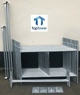 Scaffold Tower 5.5m 4x4 X 18ft Working Height DIY Galvanised Steel Towers • 259£