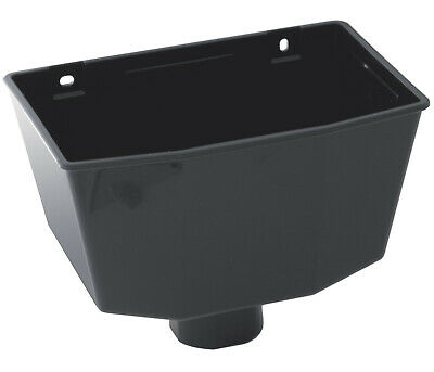 £9.45 • Buy Rainwater Down Pipe Hopper Black For 68mm Round 65mm Square Downpipe