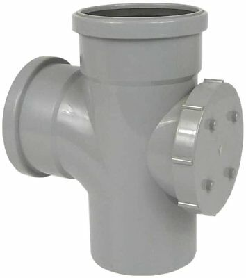 £14.99 • Buy 110mm Soil Pipe Tee With Access Cap Rodding Point Clening Eye Branch Grey