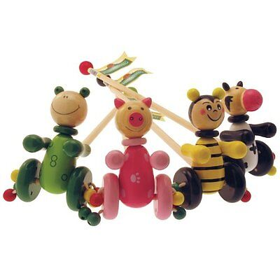 Brand New House Of Marbles Wooden Push And Pull Along Toys Bee Pig Frog Cow • 11£