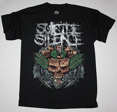 Suicide Silence Plant Deathcore Mitch Lucker Animosity New S-xxl  Black T-shirt • 7.99£