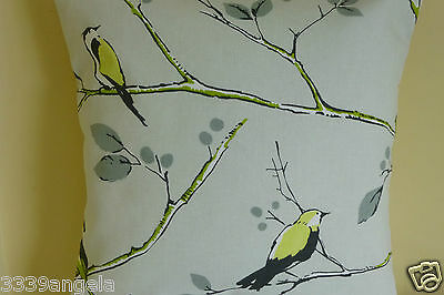 """£7.49 • Buy Oriental Cushion Cover 16"""" Birds Trees Flowers Vintage Lime Shabby Retro Chic"""