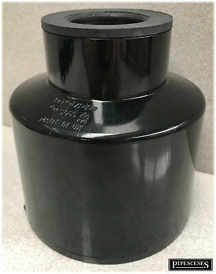 Waste Pipe To Soil Pipe Adapter Cap Pipe Reducer 110mm To 40mm Or 43mm 1 1/2  B • 14.55£