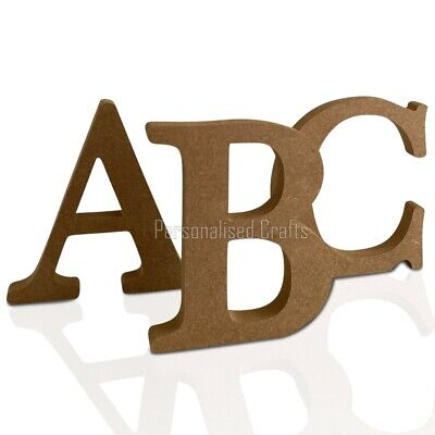 £2.50 • Buy Free Standing Wooden MDF Letters Numbers 18mm Thick! 100mm 10cm High 4 Inches
