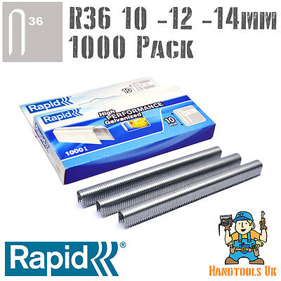 £8.99 • Buy Rapid R36 Cable Staples 1000 Pk For R36, Arrow T25, Rapesco CT60 - 10, 12, 14mm