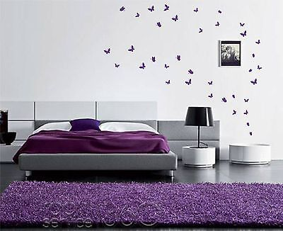 42 Butterfly Stickers (UP TO 42)  Wall Art Butterflies Vinyl Wall Decal Decor • 1.20£