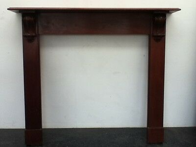 Antique Victorian Style Hand Carved Mahogany Fireplace Surround Mantel (BC196) • 640£